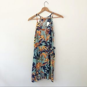 Collective Concepts Floral Cinch Tie Waist Dress